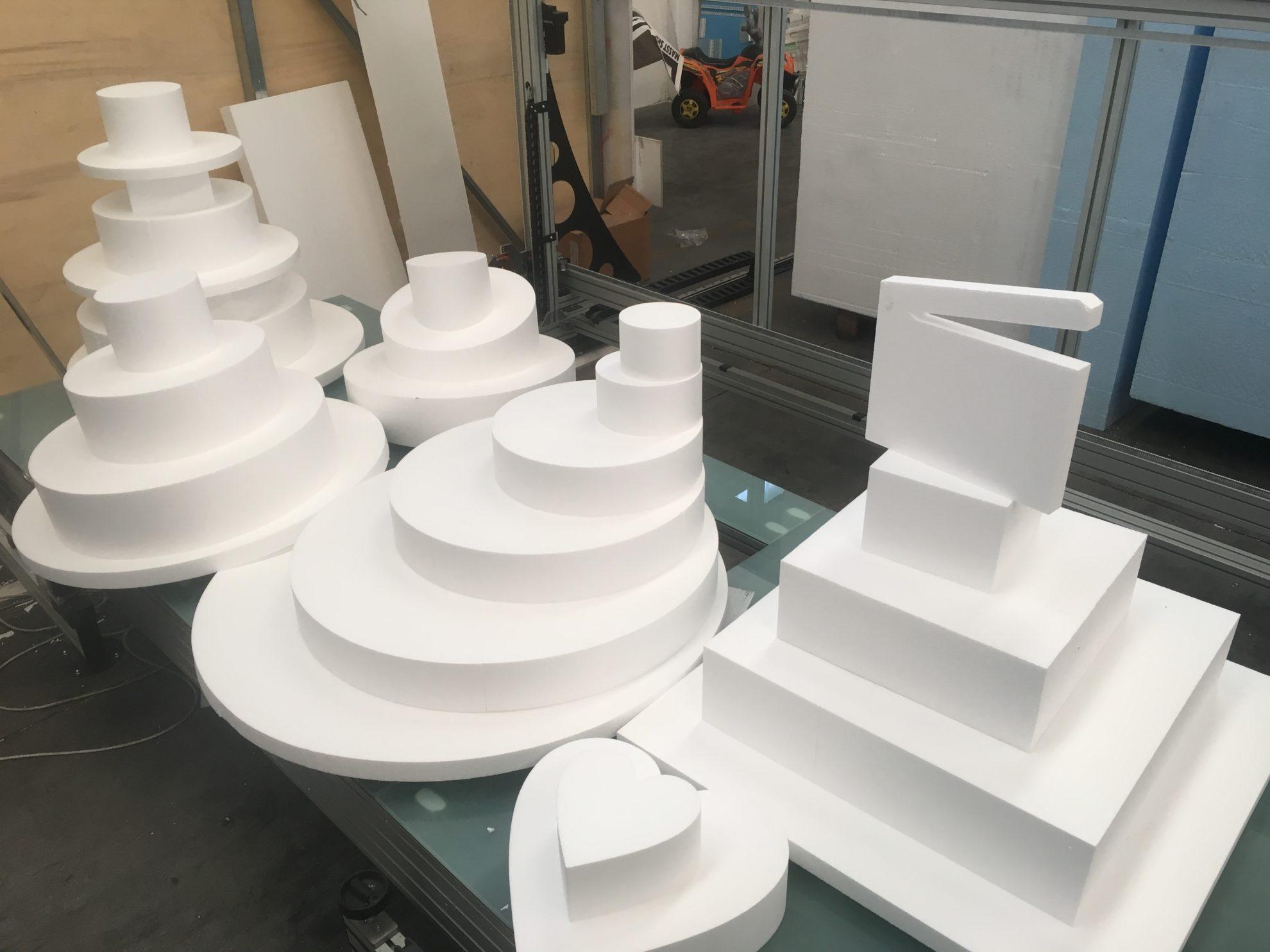 Alzate di polistirolo per torte nunziali e cake design for Decorazioni in polistirolo per interni