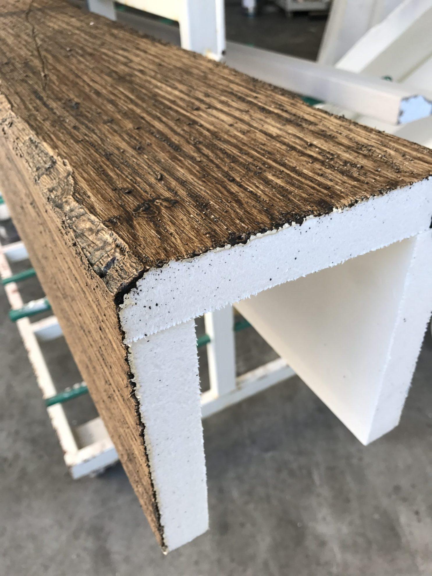 finto legno di polistirolo