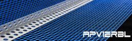 Paraspigolo in pvc con rete 8x12 (125mt)