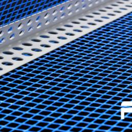 Paraspigolo in pvc con rete 10x15 (125mt)
