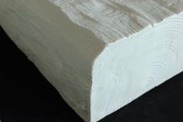 Trave Rustica 9x6 cm 3mt, exclusive bianca