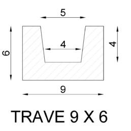 Trave Moderna 9 x 6 cm(3mt)